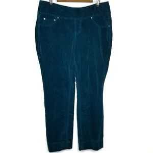 Jag Jeans 14W Teal Skinny Cords Jeggings Curvy Fit